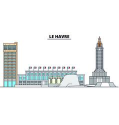 Le havre line travel landmark skyline vector