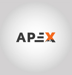 Letter apex real estate logo vector