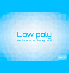 Low poly light blue abstract background geometric vector
