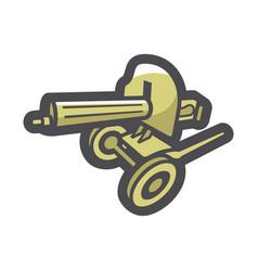 military maxim machine gun icon cartoon vector image