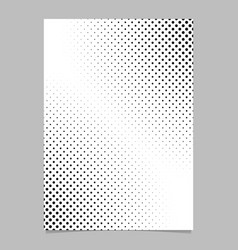 monochrome abstract halftone dot pattern brochure vector image