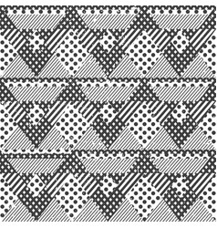 monochrome fabric seamless pattern vector image