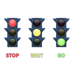 multi-colored signal traffic light vector image