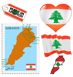 national colours of Lebanon vector image