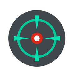 Old gun aim icon flat style vector