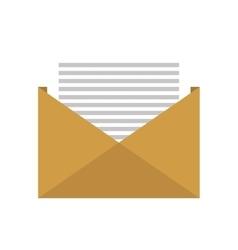 Open envelope letter vector