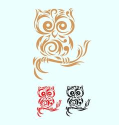 owl ornate vector image