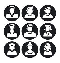 people avatars set vector image
