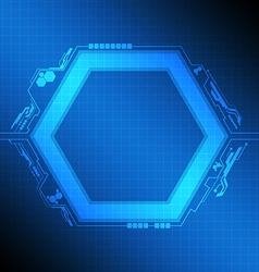 polygon frame modern design vector image