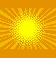 pop art orange background vector image