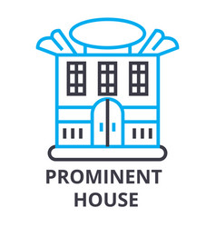 prominent house thin line icon sign symbol vector image