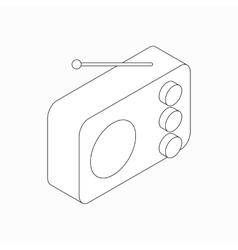Radio icon isometric 3d style vector image