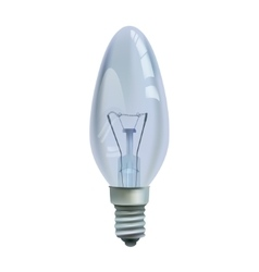Realistic bulb isolated on white background vector