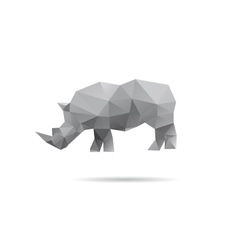 Rhino isolated on a white backgrounds vector image