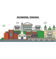 Richmond virginia city skyline architecture vector