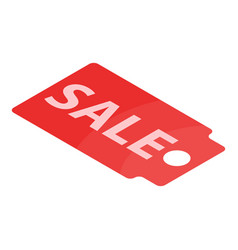 sale tag icon isometric style vector image