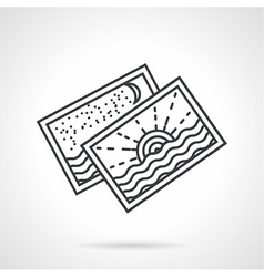 Seascape postcards line icon vector image