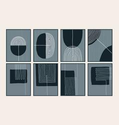 Set abstract creative minimalist art vector