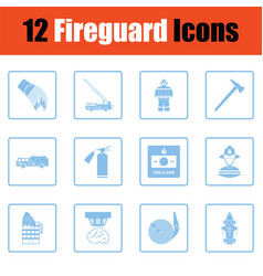 set of fire service icons vector image