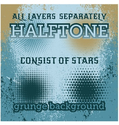 set of halftone on the grunge background vector image