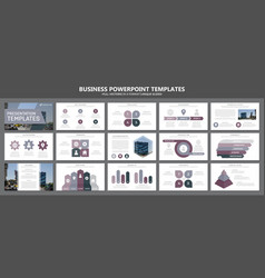 Set of purple elements for multipurpose vector
