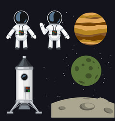 Space program set vector