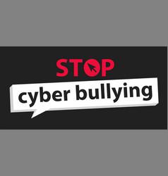 Stop cyberbullying vector