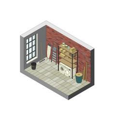 Storeroom in isometric view vector