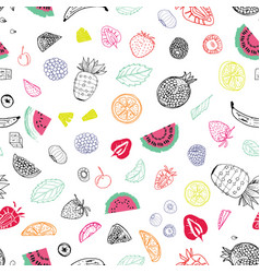 summer fruit seamless pattern print background vector image