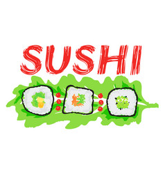 Sushi sticker vector