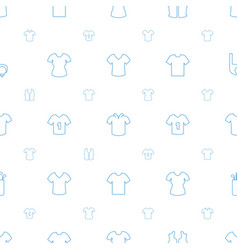 tee icons pattern seamless white background vector image