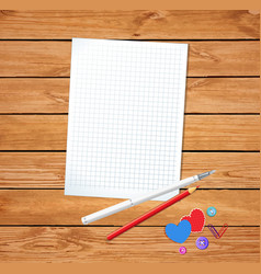 Template for valentines day with clean notepad vector