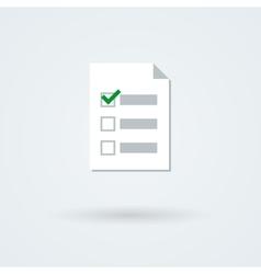 Text and checklist icon vector
