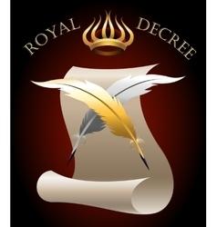 The Royal Decree vector image