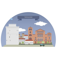 Thessaloniki vector image