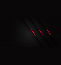 Triple red light line slash on dark grey hexagon vector