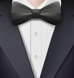 Tuxedo with a bow tie vector