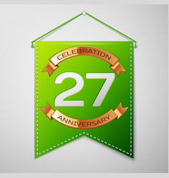 Twenty seven years anniversary celebration vector