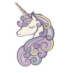 Unicorn icon isolated on white vector