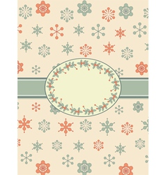 vintage christmas background border vector image