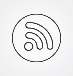 WiFi outline symbol dark on white background logo vector image