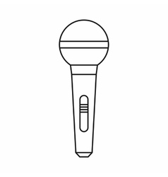 Wireless microphone icon outline style vector image vector image