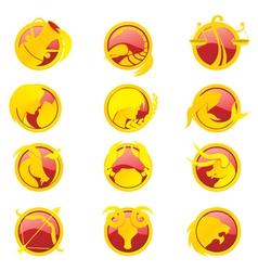 Zodiac set vector