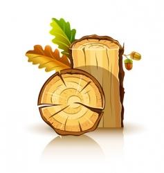 oak tree icons vector image vector image