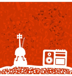 Violin and the tape recorder vector image vector image