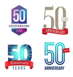 50 years anniversary symbol vector