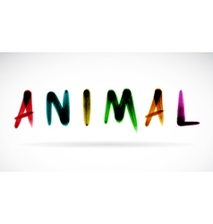Animal character vector image