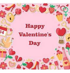 Decorative Valentine background vector image vector image