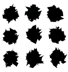exploded icon black sharp silhouette collection vector image vector image
