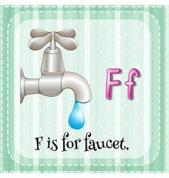 Faucet vector image vector image